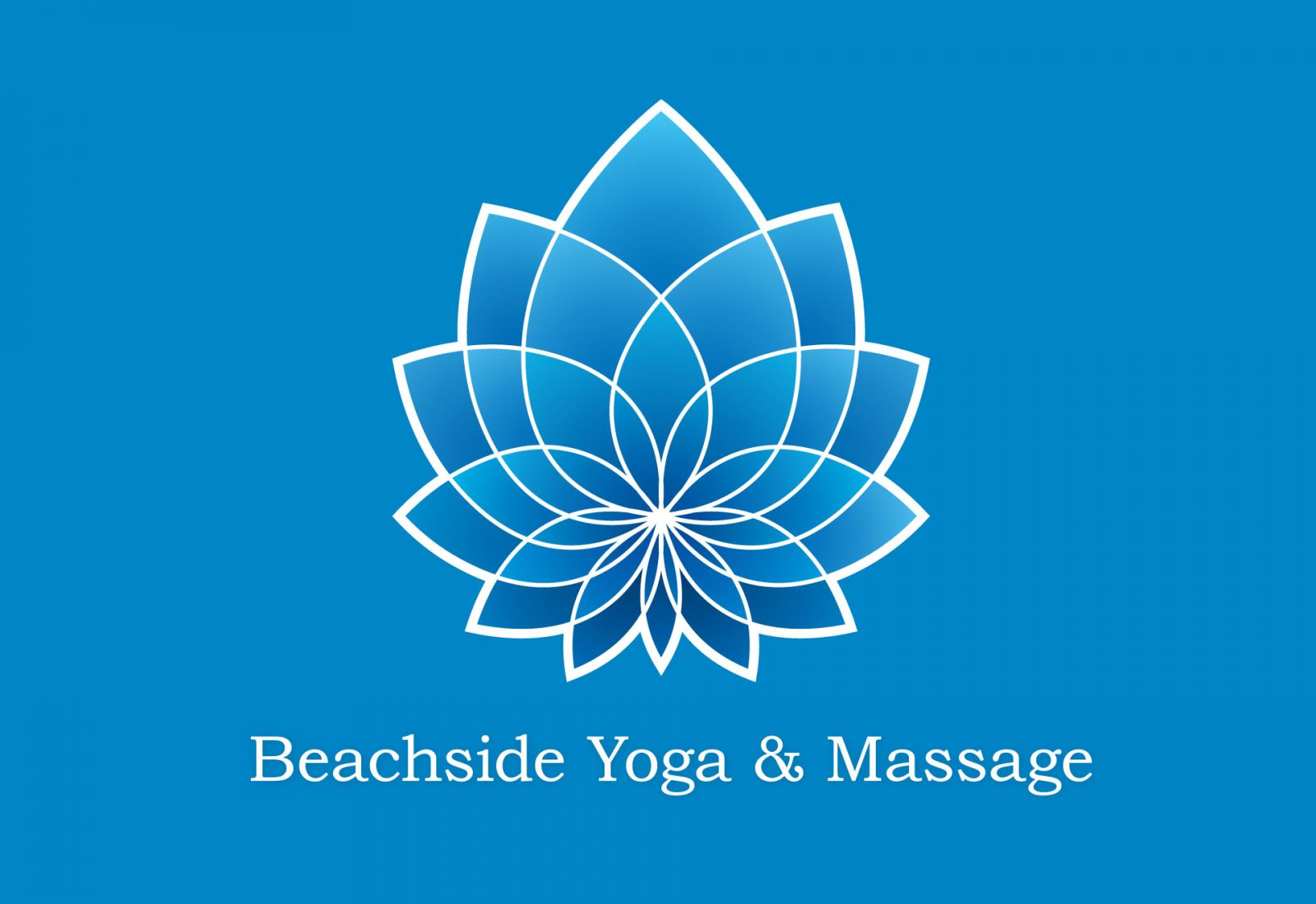 Logo design and branding for Beachside Yoga & Massage, Byron Bay.