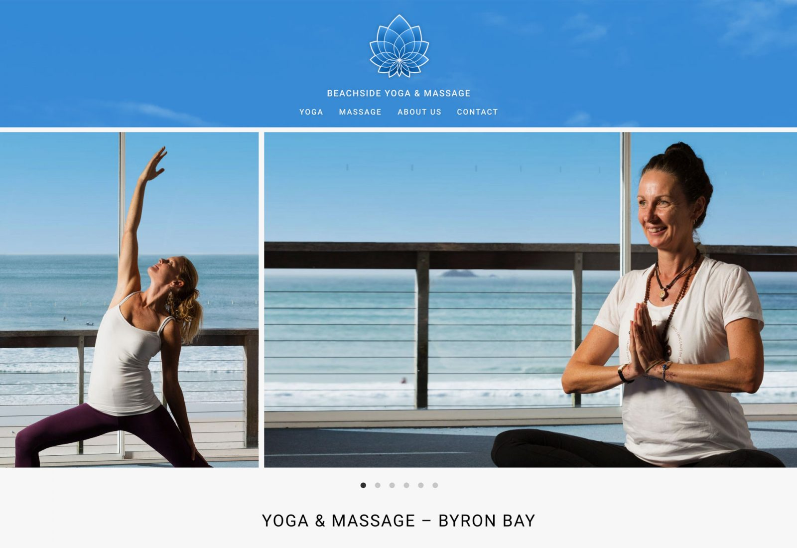 Beachside Yoga and Massage home page