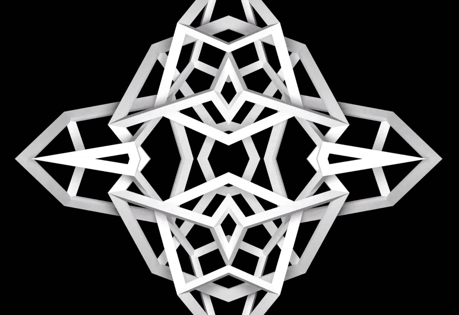 Cubframe kaleidoscope 3D animation experiment