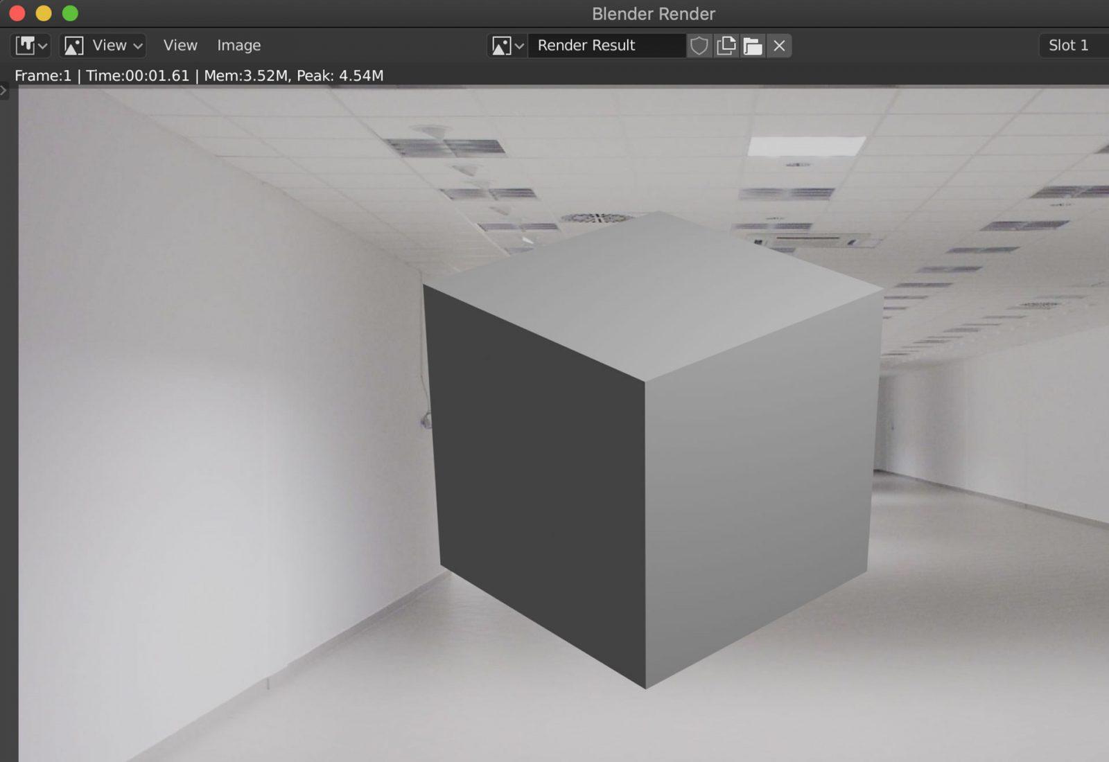 Render a Background Image Using Blender 2.8 - step 19 example render with background image