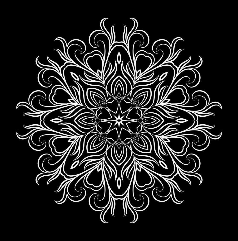 Floral Mandala vector 2