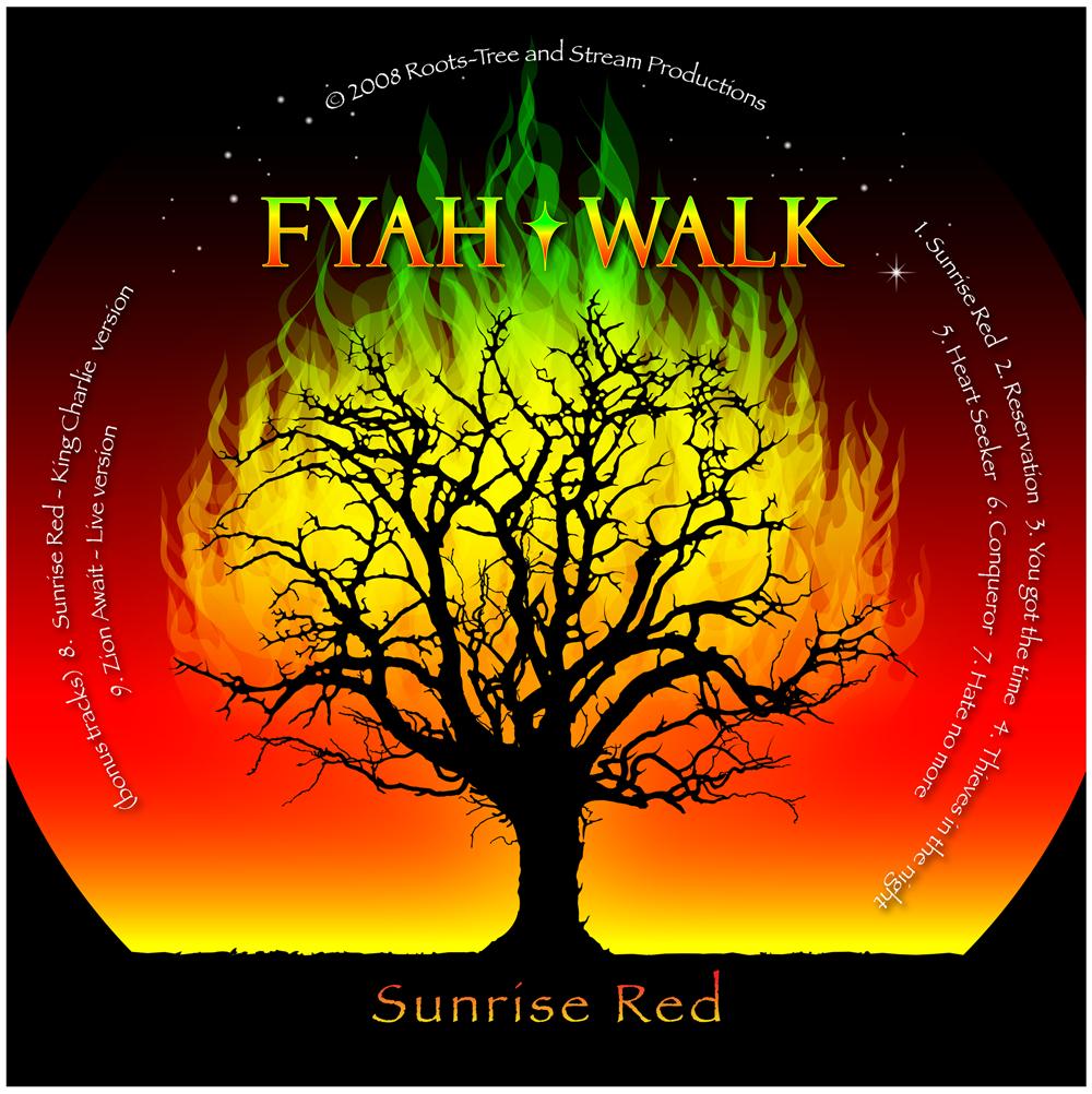 Fyah Walk Sunrise Red CD artwork