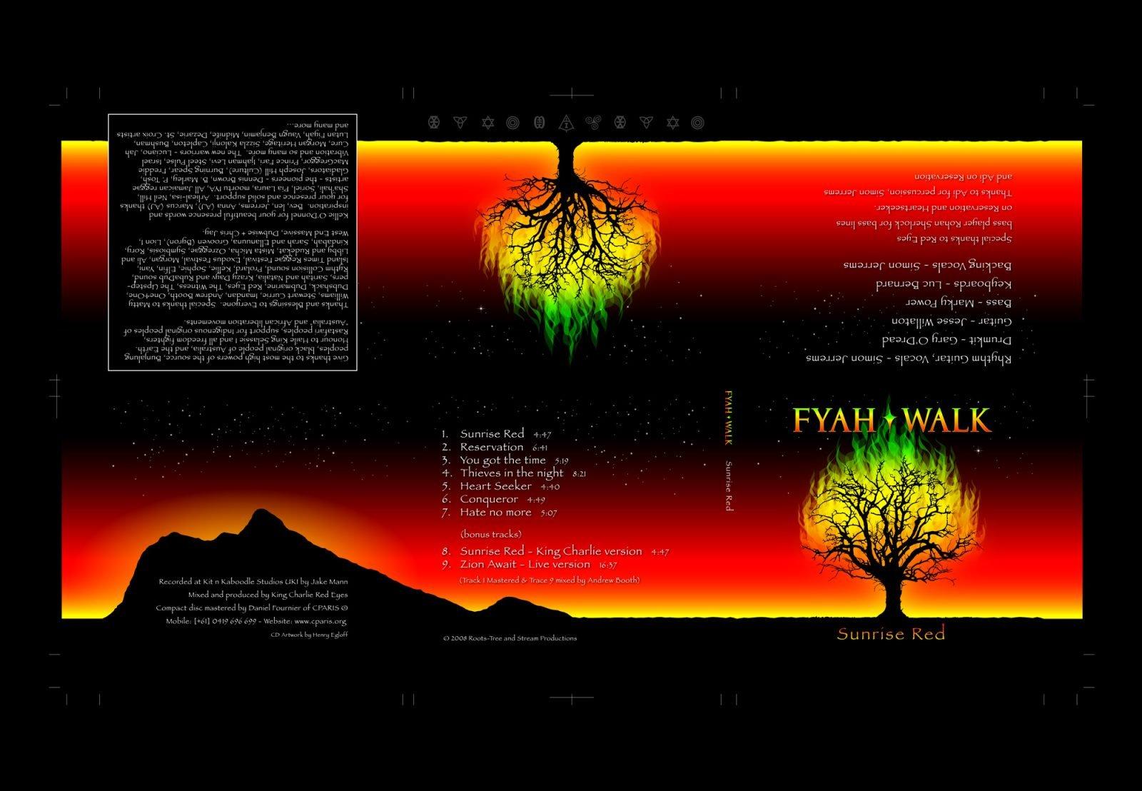 Fyah Walk Sunrise Red digipack artwork