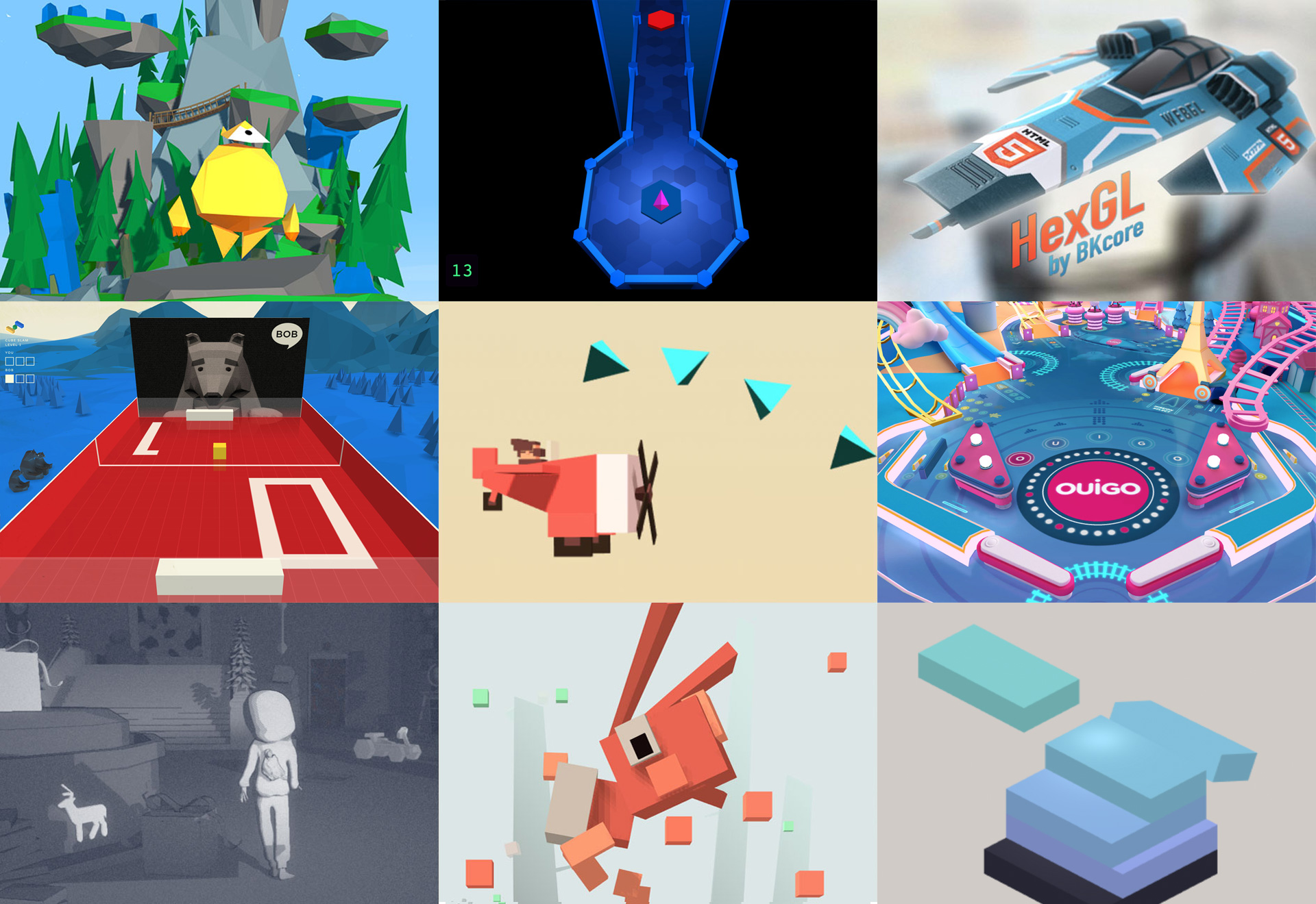 Examples of Browser Based Games Using Three.Js, Javascript and WebGL