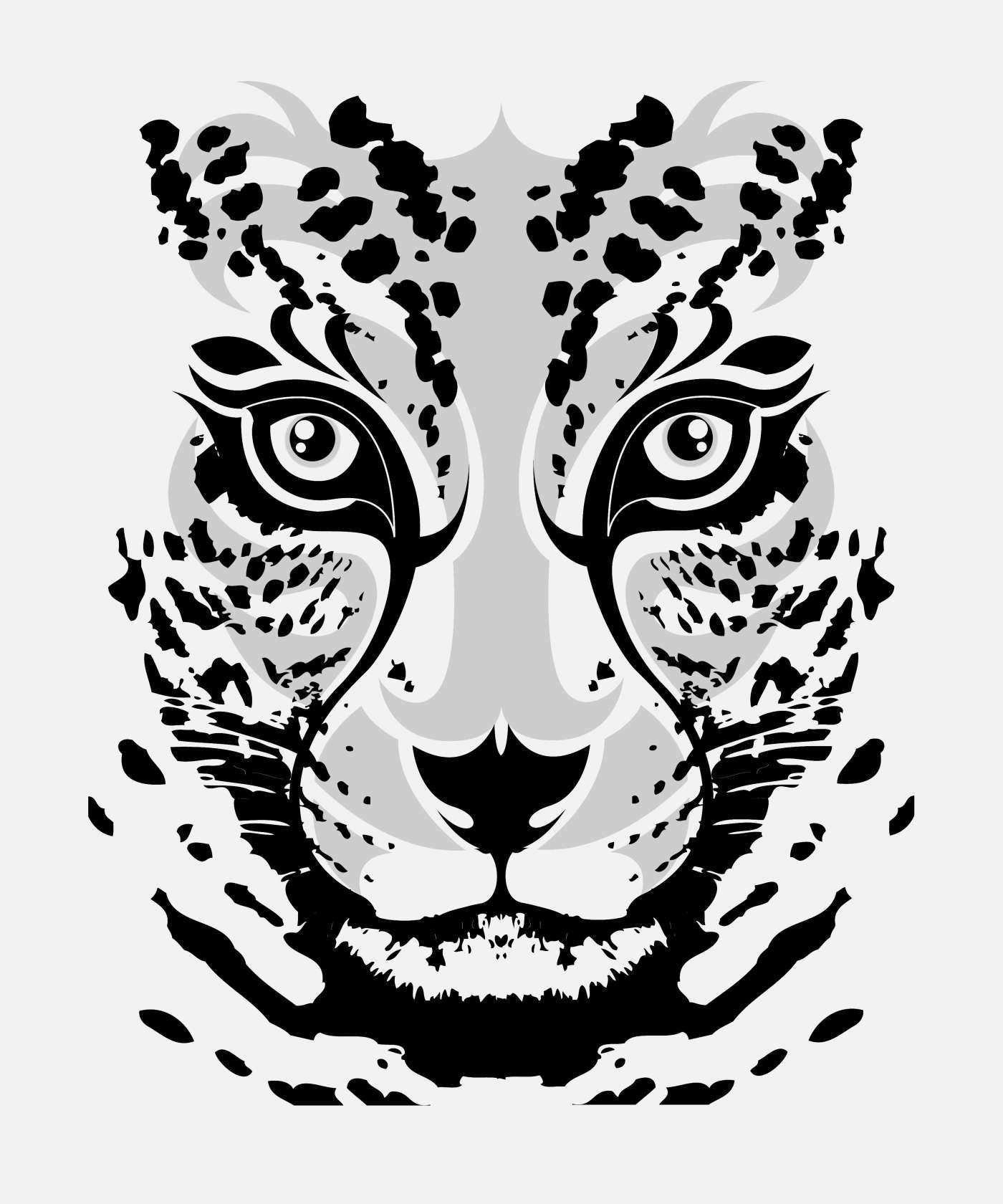 Jaguar face vector artwork