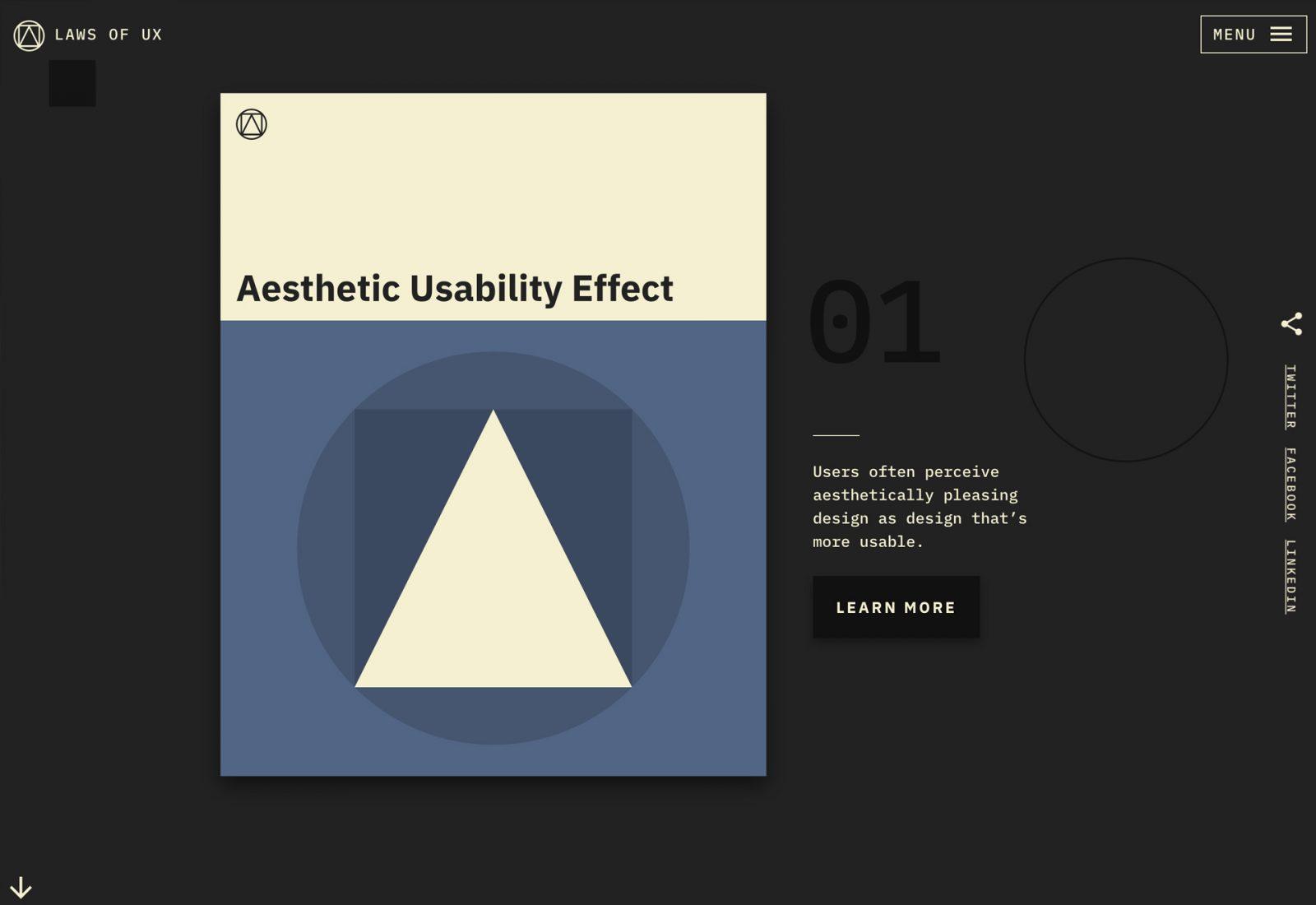 Laws of UX - web design by Jon Yablonski