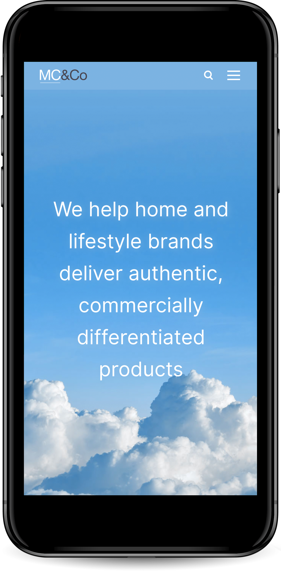 MC&Co home page mobile view