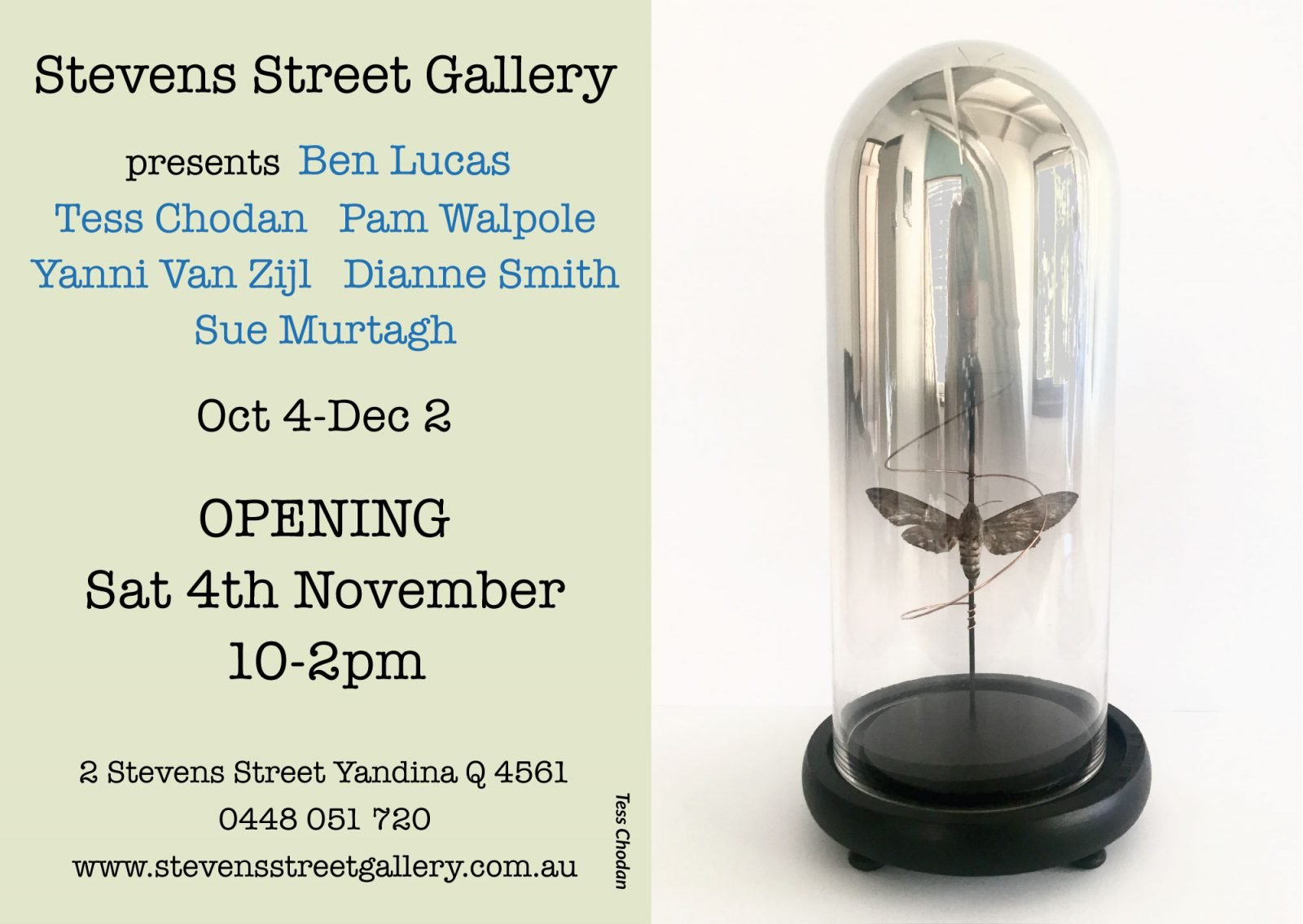 Stevens Street Gallery mixed artists  exhibition invite.