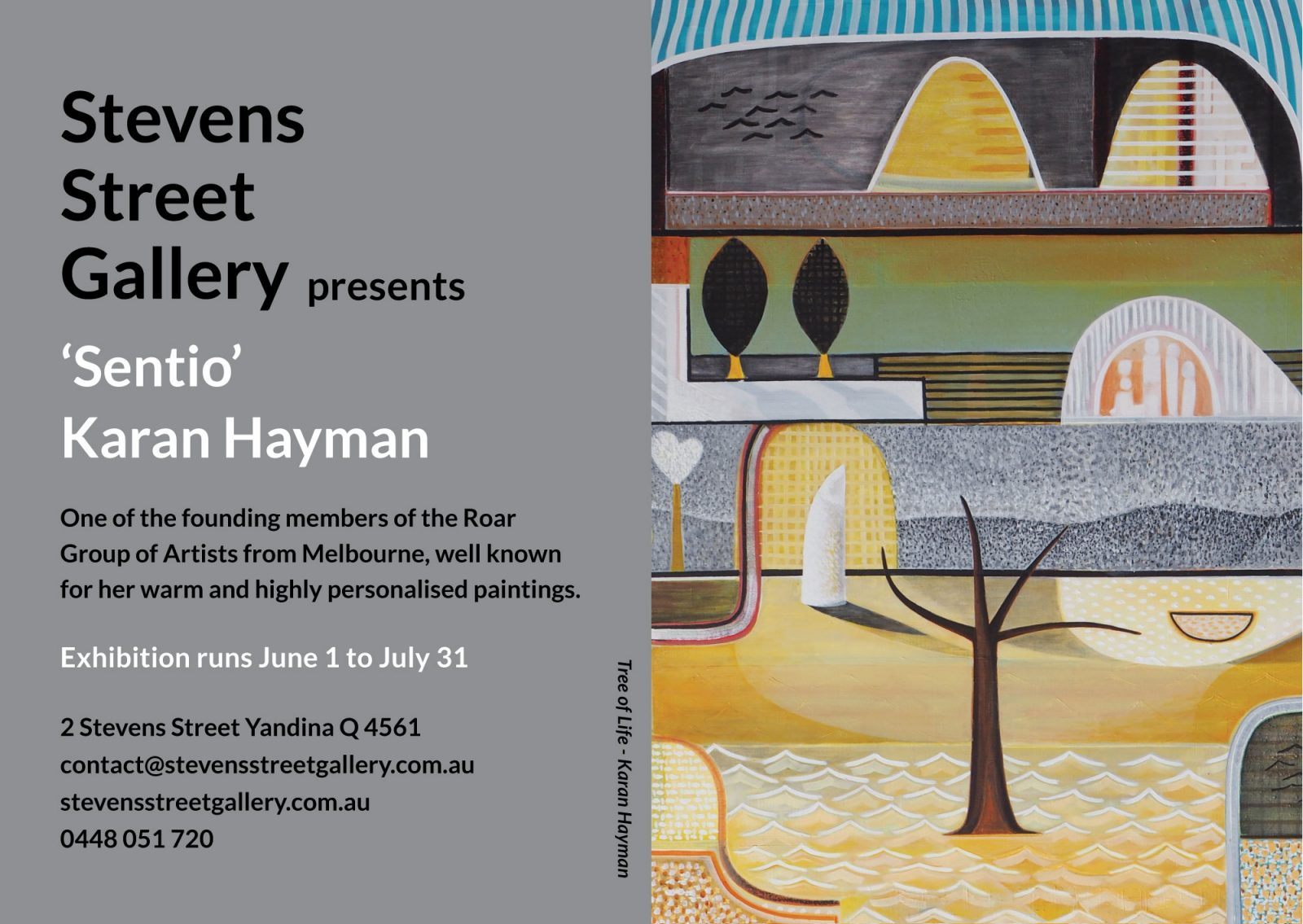 'Sentio' Karan Hayman exhibition invite.