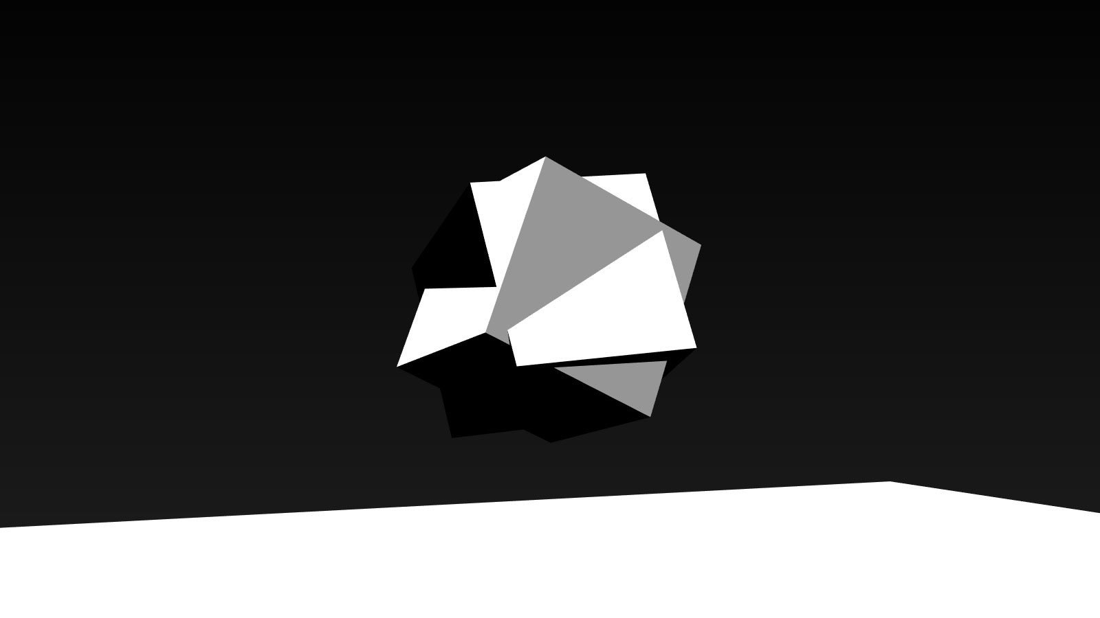 Spinning Cubes created with three.js