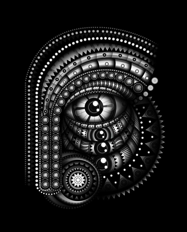 Tribal Face vector artwork