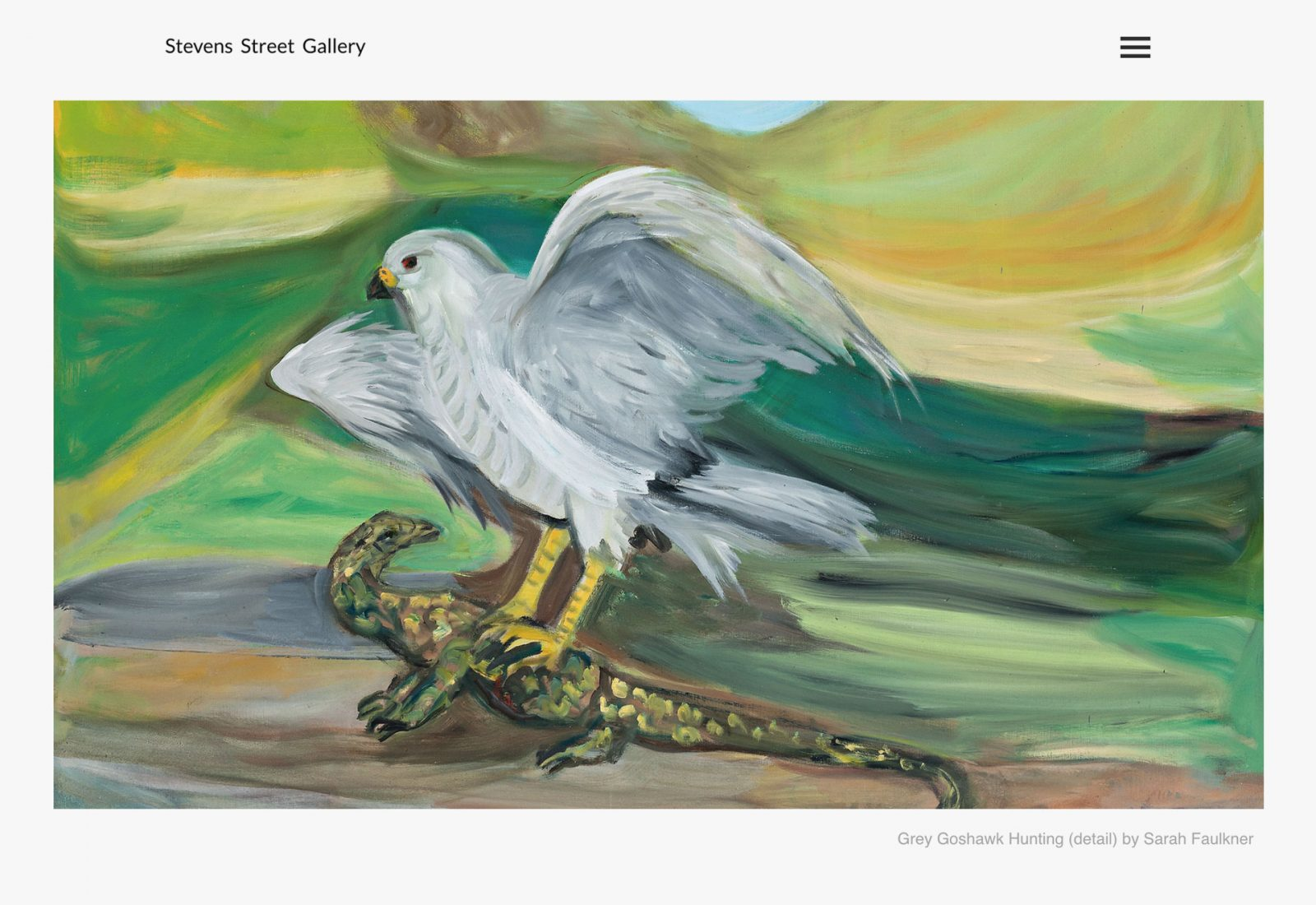 Stevens Street Gallery home page